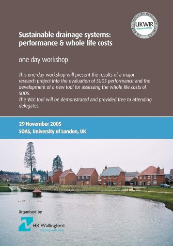 Workshop leaflet.indd - UK Water Industry Research