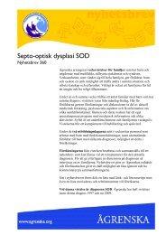 Septo-optisk dysplasi - Ågrenska