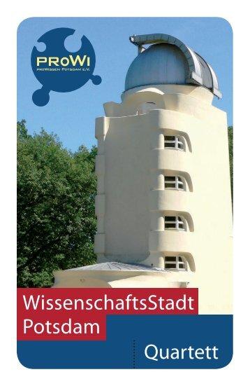 WissenschaftsStadt Potsdam Quartett - proWissen Potsdam e.V.