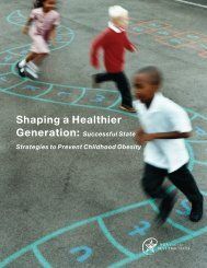 Shaping a Healthier Generation - National Governors Association