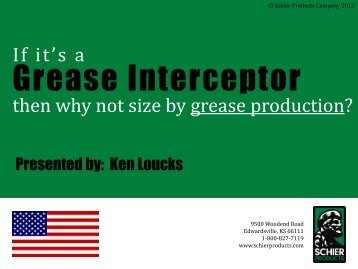 If it's a Grease Interceptor - APWA