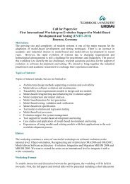 Call for Papers for First International Workshop on Evolution Support ...
