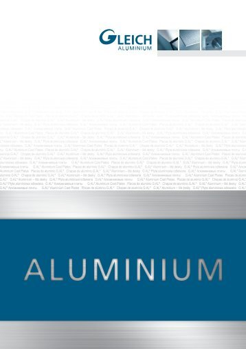 плиты G.AL® Aluminium Cast Plates Placas de aluminio G.AL ...