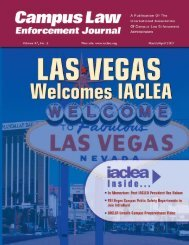 Volume 37, No. 2 - March/April 2007 Campus Law ... - IACLEA