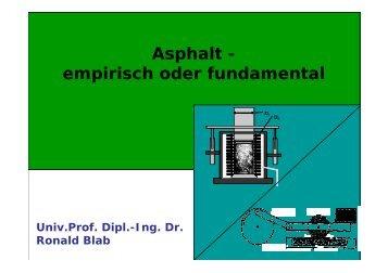 Asphalt - empirisch oder fundamental - Gestrata