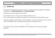 1 Funktionale vs. Imperative Programmierung 1.1 Einführung