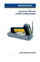 PowerScan PBT7100 Cordless Imaging Reader - Hant