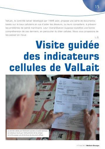 Visite guidée des indicateurs cellules de ValLait - Association ...