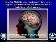 Using Ion Mobility Mass Spectrometry to Measure Oligomer-size ...