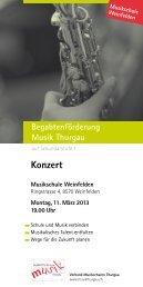 Konzert - Musikschulen Thurgau