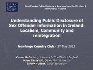 Understanding Public Disclosure of Sex Offender information in ...