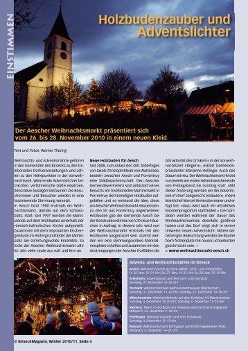 Adventslichter - Birseck Magazin