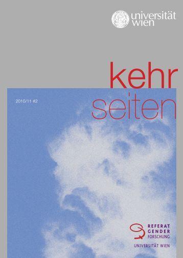 Vol. 2, 2010 (PDF) - Referat Genderforschung - Universität Wien
