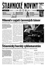 Štiavnické noviny 27 - Banská Štiavnica