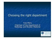 Yves Menu MIR 2012 Choosing the right department - MIR-Online