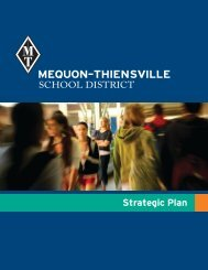 2012. The Strategic Plan - Mequon-Thiensville School District