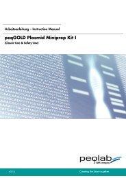 peqGOLD Plasmid Miniprep Kit I - Peqlab