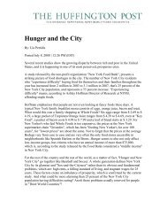 Hunger and the City - New York City Coalition Against Hunger