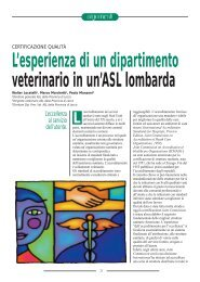 L'esperienza di un dipartimento veterinario in un'ASL ... - SIVeMP