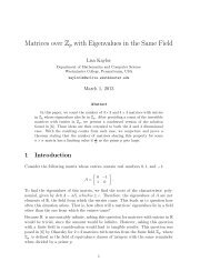 Matrices over Z (mod p) with Eigenvalues in the Same Field