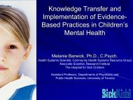 Knowledge Transfer and Implementation of Evidence- Based ...