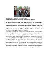 13. Mittelalterfest zu Mauterndorf von 7. bis 8. Juli 2012 Historische ...