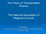 The Future of Transportation Finance The National ... - NARC