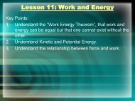 Physics Lesson11 Work and Energy Powerpoint