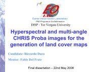 Hyperspectral and multi-angle CHRIS PROBA images for the ...