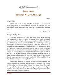 املذهب املالكي TRƯỜNG PHÁI AL-MALIKY - Chân Lý Islam