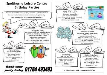 Spelthorne Leisure Centre Birthday Parties - Everyone Active