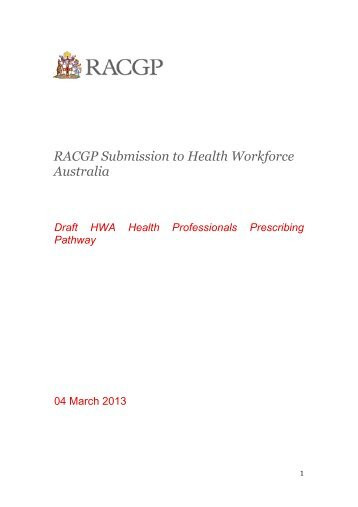 The Royal Australian College of General Practitioners - Health ...