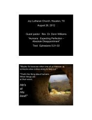 Sermon Supplement (PDF) - JOY Lutheran Church