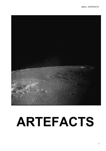 artefacts - anomalies - Page d'accueil