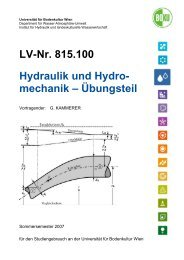LV-Nr. 815.100 Hydraulik und Hydro- mechanik – Übungsteil