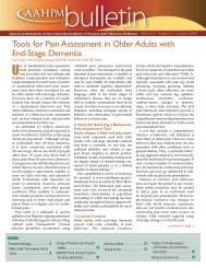 Tools for Pain Assessment in Older Adults with End-Stage Dementia