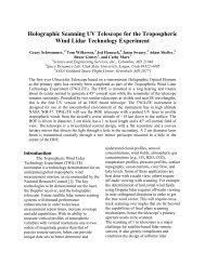 Holographic Scanning UV Telescope for the Tropospheric Wind ...