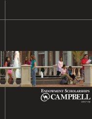 ENDOWMENT SCHOLARSHIPS - Campbell University