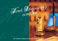 Ihr zweites Zuhause in Berlin-Reinickendorf - Hotel Rheinsberg am ...
