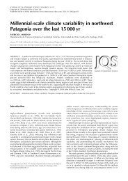 Millennial-scale climate variability in northwest Patagonia over ... - IEB