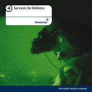 Services for Defence - SatellitePhoneStore.com