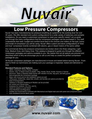 Low Pressure Compressors - Nuvair