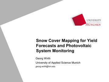 Snow Cover Mapping for Yield Forecasts and Photovoltaic System ...