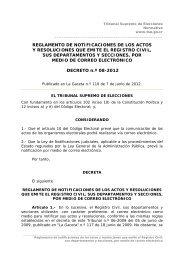 reglamento de notificaciones de los actos y resoluciones que emite ...