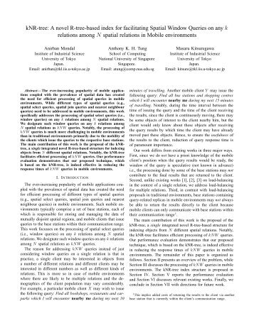 kNR-tree: A novel R-tree-based index for facilitating Spatial Window ...