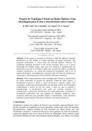 Projeto de Topologia Virtual em Redes Ópticas: Uma ... - SBRC 2010