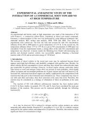 experimental and kinetic study of the interaction of a commercial ...