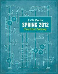 Spring 2012 Frontlist Catalog - F+W Media
