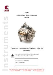to download the SQDC manual - Chell Instruments Limited