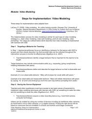 Steps for Implementation: Video Modeling - National Professional ...
